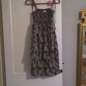 Smocked ruffle tier dress